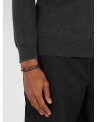 Valentino Garavani Multicolor Rockstud Leather Bracelet for men
