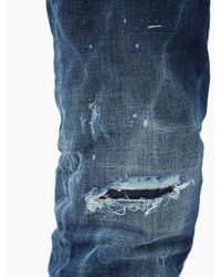 メンズ DSquared² クールガイ ダメージスリムジーンズ Blue