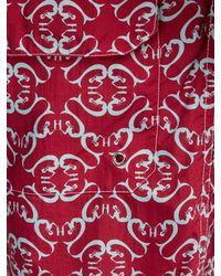 Short de bain à motif Maze Le Sirenuse pour homme en coloris Red
