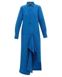 Colville テクニカルサテンドレス Blue