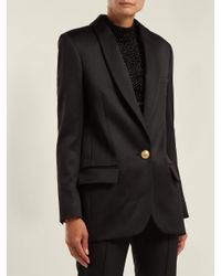 Balmain Black Long Wool Blazer