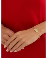 Theodora Warre Metallic St Christopher Gold-plated Bracelet