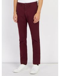 Polo Ralph Lauren - Red Slim-fit Cotton-blend Chino Trousers for Men - Lyst