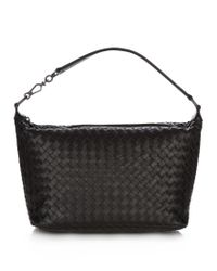 Bottega Veneta Black Intrecciato Small Shoulder Bag