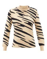 Paco Rabanne タイガージャカード ウールセーター Multicolor