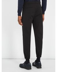 Prada - Black Mid-rise Slim-leg Track Pants for Men - Lyst