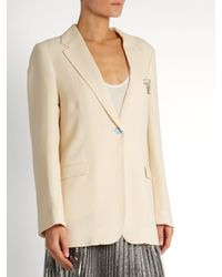 Christopher Kane Natural Single-breasted Stretch-wool Blazer