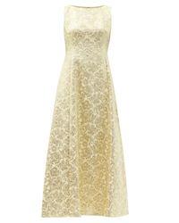 Dolce & Gabbana フローラルブロケードドレス Yellow