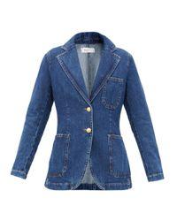 Wales Bonner Blue Judah Single-breasted Denim Jacket