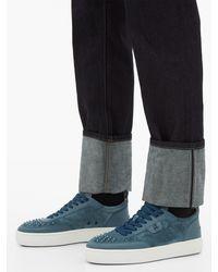 Baskets en daim à ornements picots Happy Rui Christian Louboutin pour homme en coloris Blue