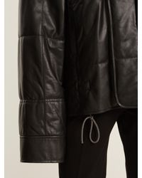Haider Ackermann Black Drawstring-hem Quilted-leather Jacket