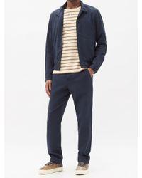 メンズ Oliver Spencer ライド コットンブレンドボンバージャケット Blue