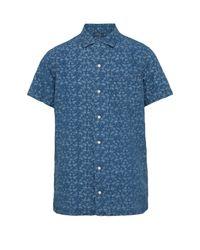 Polo Ralph Lauren Blue Flamingo-print Linen Shirt for men