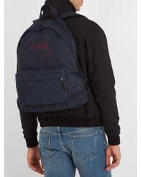 Balenciaga Blue Explorer Coated Canvas Backpack for men