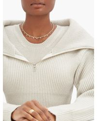 Zoe Chicco Metallic Graduating Diamond & 14kt Gold Curb-chain Necklace