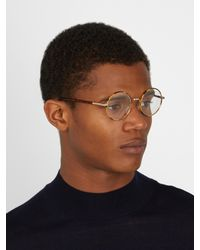 Cutler & Gross - Brown Pa0346 Round-frame Glasses for Men - Lyst