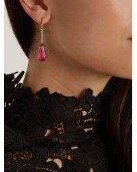 Irene Neuwirth - Pink Diamond, Tourmaline & Rose-gold Earring - Lyst