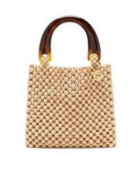 Rosantica Natural Marv Wooden-beaded Bag