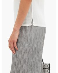 Pleats Please Issey Miyake ミスト トップ White