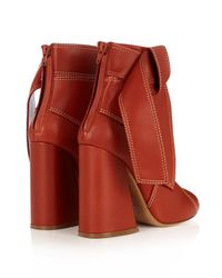 Ellery - Red Susanna Leather Ankle Boots - Lyst