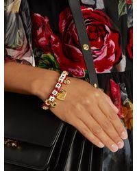 Dolce & Gabbana - Red Amore-embellished Bracelet - Lyst