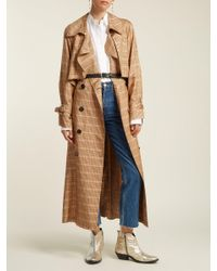 Golden Goose Deluxe Brand - Multicolor Vela Checked Double Breasted Trench Coat - Lyst