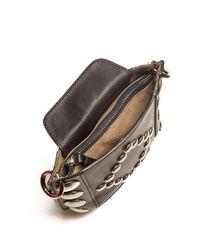 Isabel Marant Black Nasko Stud-embellished Leather Cross-body Bag