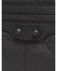 Balenciaga - Black Clip M Grained-leather Pouch for Men - Lyst