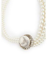 Miu Miu - Metallic Faux-pearl And Crystal Necklace - Lyst
