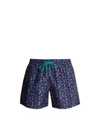 Paul Smith - Blue Fish-print Swim Shorts for Men - Lyst