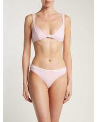 Solid & Striped Pink The Nora Bikini Top