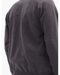 メンズ Satisfy カルト ダメージコットンスウェットシャツ Gray