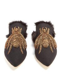 Sanayi 313 - Multicolor Ragno Embroidered Slipper Shoes - Lyst