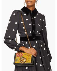 Sac bandoulière à jacquard floral Devotion Dolce & Gabbana en coloris Multicolor