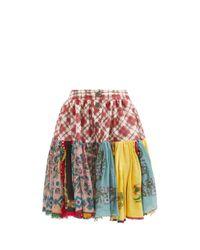 Chopova Lowena ハイライズ パッチワーク スカート Multicolor