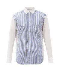 メンズ Comme des Garçons Comme Des Garçons Shirt ストライプ コットンポプリンシャツ Multicolor