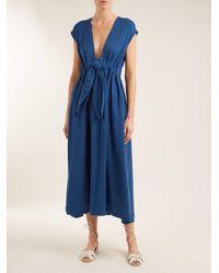Mara Hoffman - Blue Katinka Tie-waist Cotton Dress - Lyst
