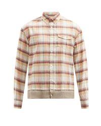 メンズ Undercover ニットバック チェック コットンシャツ Multicolor