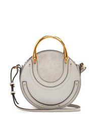 Chloé Blue Pixie Small Leather And Suede Cross-body Bag