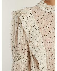 Rebecca Taylor Natural Star-print Silk-blend Blouse
