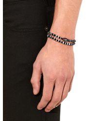 Luis Morais - Black Bi-colour Bead And White-gold Bracelet for Men - Lyst