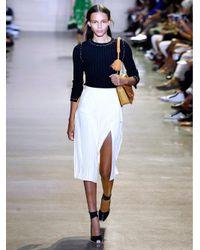 Altuzarra Metallic Mayumi Pleated Wrap Skirt