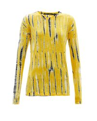 Proenza Schouler タイダイ コットン ロングスリーブtシャツ Yellow