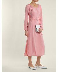 Sies Marjan Pink Hester Waist Belt Midi Dress