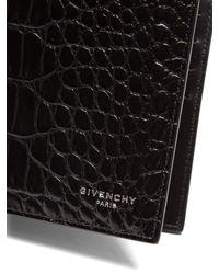 Givenchy - Black Bi-fold Crocodile-effect Leather Wallet for Men - Lyst