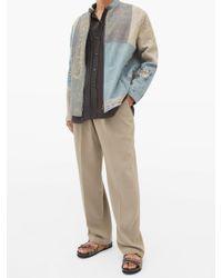 メンズ By Walid トリスタン ピンタックプリーツ ウォッシュドシルクシャツ Multicolor
