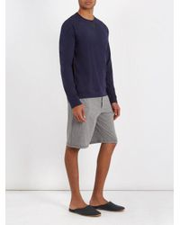 Paul Smith Gray Wide-leg Cotton-jersey Pyjama Shorts for men