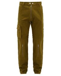 GmbH Green Organic-cotton Twill Utility Trousers for men