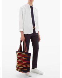 メンズ Guanabana Liam ストライプ ウーブントートバッグ Multicolor