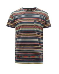 メンズ RRL ボーダー コットンtシャツ Multicolor